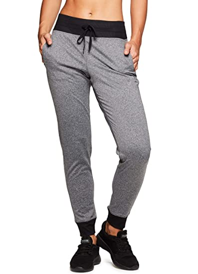 e30aede612c7f RBX Active Women's Athletic Super Soft Lightweight Cuffed Tapered Fleece  Jogger Sweatpants with Pockets