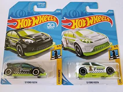 Hot Wheels 2018 Checkmate 9/9 - 12 Ford Fiesta (Black & White