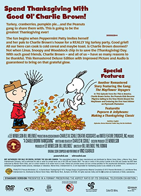 Amazon.com: A Charlie Brown Thanksgiving Deluxe Edition: Various ...