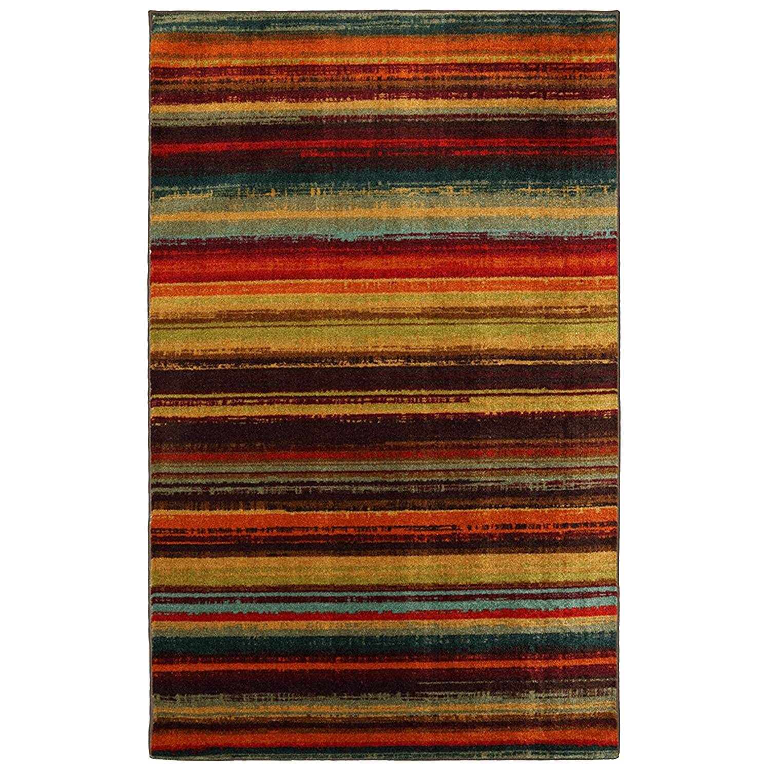 mohawk home new wave boho stripe printed area rug 5