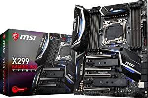 MSI Performance Gaming Intel X299 LGA 2066 DDR4 USB 3.1 SLI ATX Motherboard (X299 Gaming PRO Carbon) (Renewed)