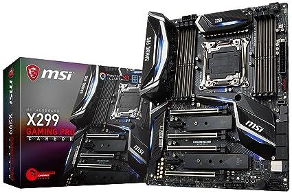Amazon com: MSI Performance Gaming Intel X299 LGA 2066 DDR4