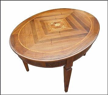 Ovale Extensible Bois Table Artisanale Lacommodemobili En Et Massif 35RjAq4L