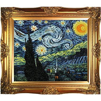 Amazon.com: overstockArt Van Gogh Starry Night Painting with ...