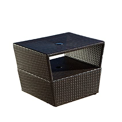 Amazon Com Rst Outdoor Umbrella Stand Side Table Patio Side