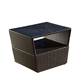 Amazoncom RST Outdoor Umbrella Stand Side Table Patio Side
