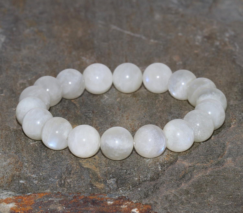 Moonstone Bracelet Stone Bracelet. Stainless Steel Bracelet Made to order