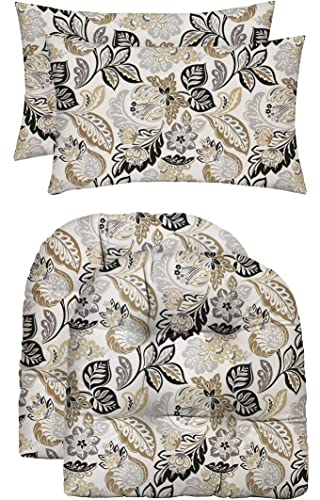 RSH D cor Indoor Outdoor Grey Brown Tan Print