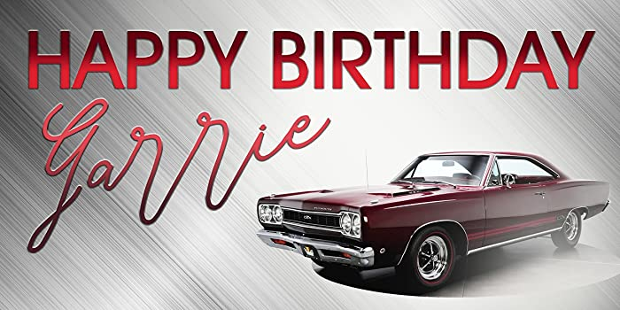 Amazon Com Classic Muscle Car Plymouth Roadrunner Birthday Banner