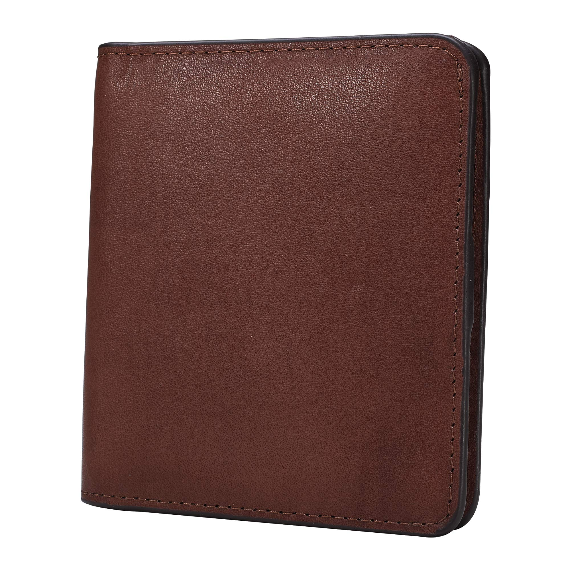 BIG SALE-AINIMOER Women's RFID Blocking Leather Small Compact Bifold Pocket Wallet Ladies Mini Purse with id Window (Vintage Brown) by AINIMOER (Image #4)
