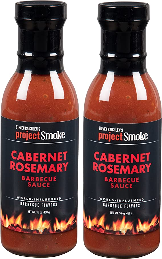 Steven Raichlen Project Smoke BBQ Barbecue Sauce-Cabernet Rosemary 2 Pack Barbeque Set
