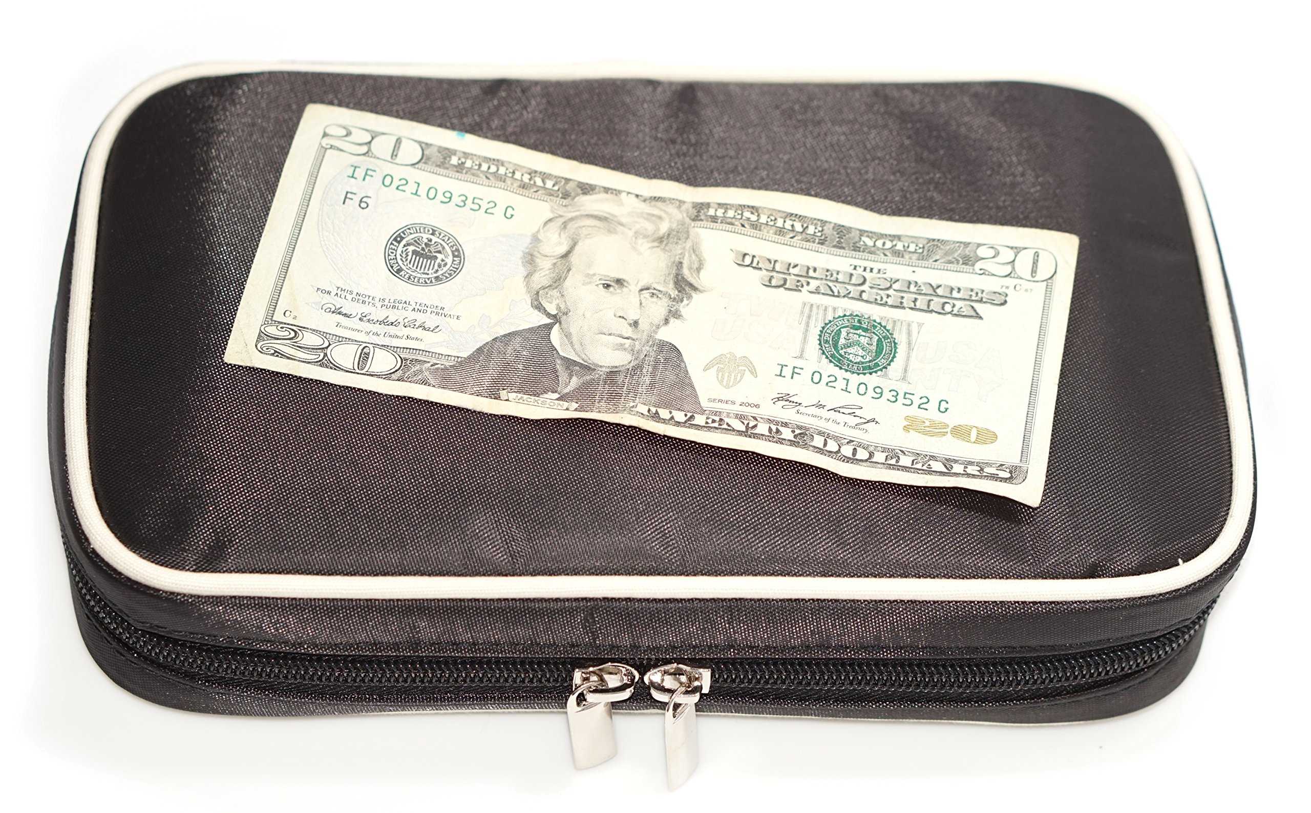 Jewelry & Accessories Travel Organizer Bag Case (Black) by Simple Accessories (Image #4)