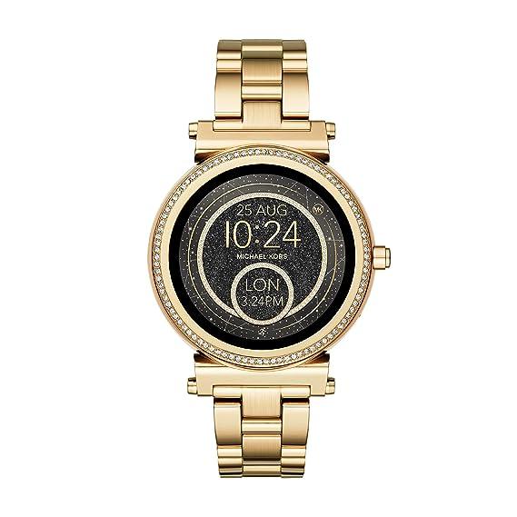 29c94b4d1931 Michael Kors Reloj Mujer de Digital con Correa en Acero Inoxidable MKT5021   Amazon.es  Relojes