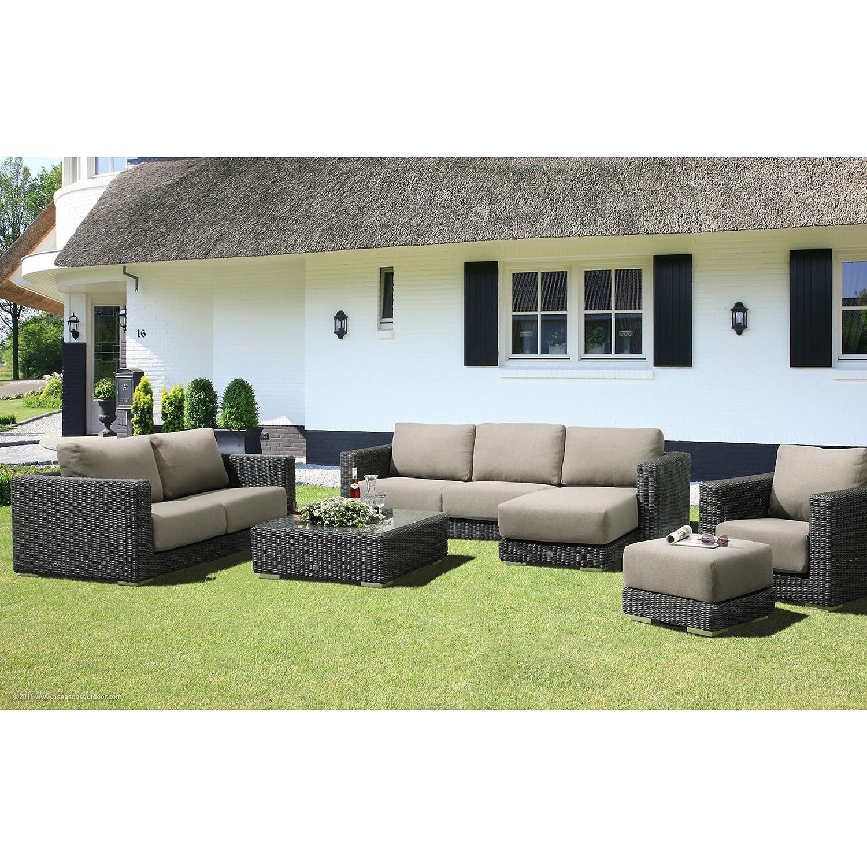 4Seasons Outdoor Sommerset 5-teilige Sitzgruppe mit Tisch Polyrattan charcoal