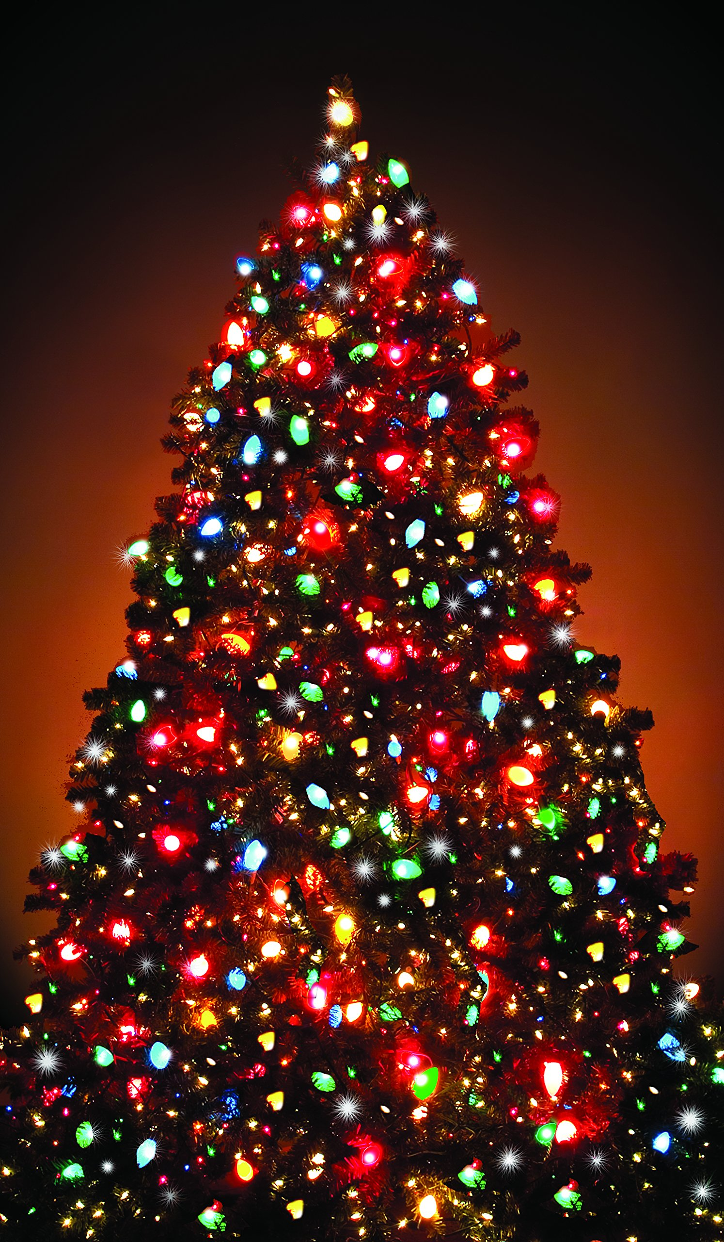 WOWindow Posters Christmas Tree Window Decoration 34.5''x60'' Backlit Poster