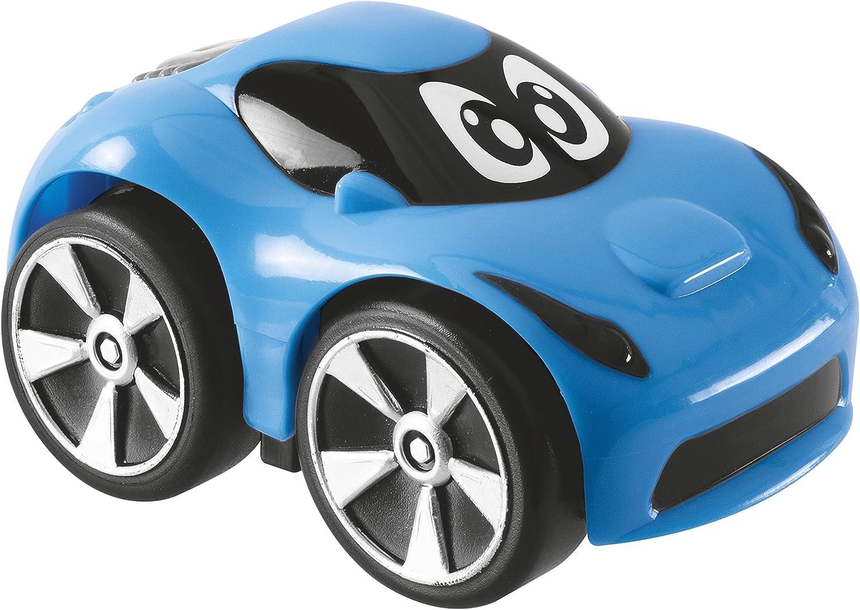 Chicco Mini Turbo Touch - Mini vehiculos con carga por retroceso o movimiento libre de ruedas, color azul