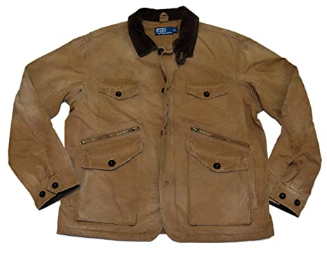 773425a4ffb59 Image Unavailable. Image not available for. Color: Ralph Lauren Polo Mens  Hunting Canvas Cargo Field Jacket ...