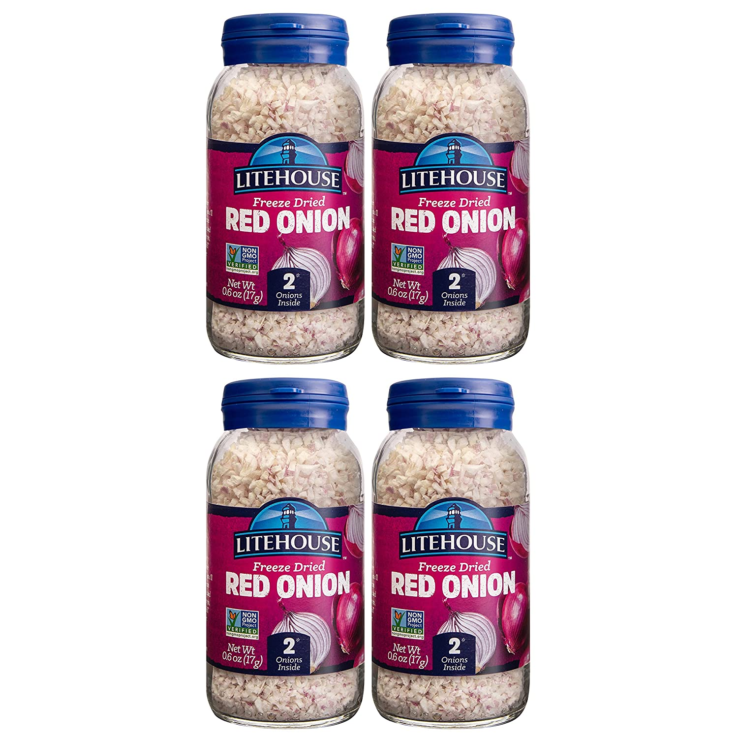 Litehouse Freeze Dried Red Onion, 0.6 Ounce, 4-Pack