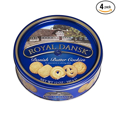 In A Nice Gifting Tin Box 340G Sherwood Danish Delights Butter Cookies .