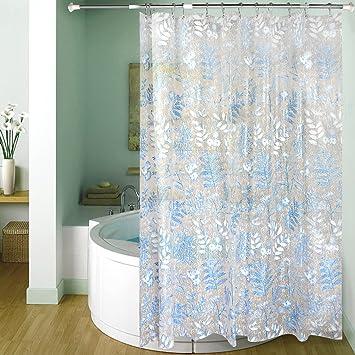 Amazing Mildew Resistant Shower Curtain Liner, Carttiya EVA Bath Curtain With  Beautiful Patterns U0026 Sparkling Sequins