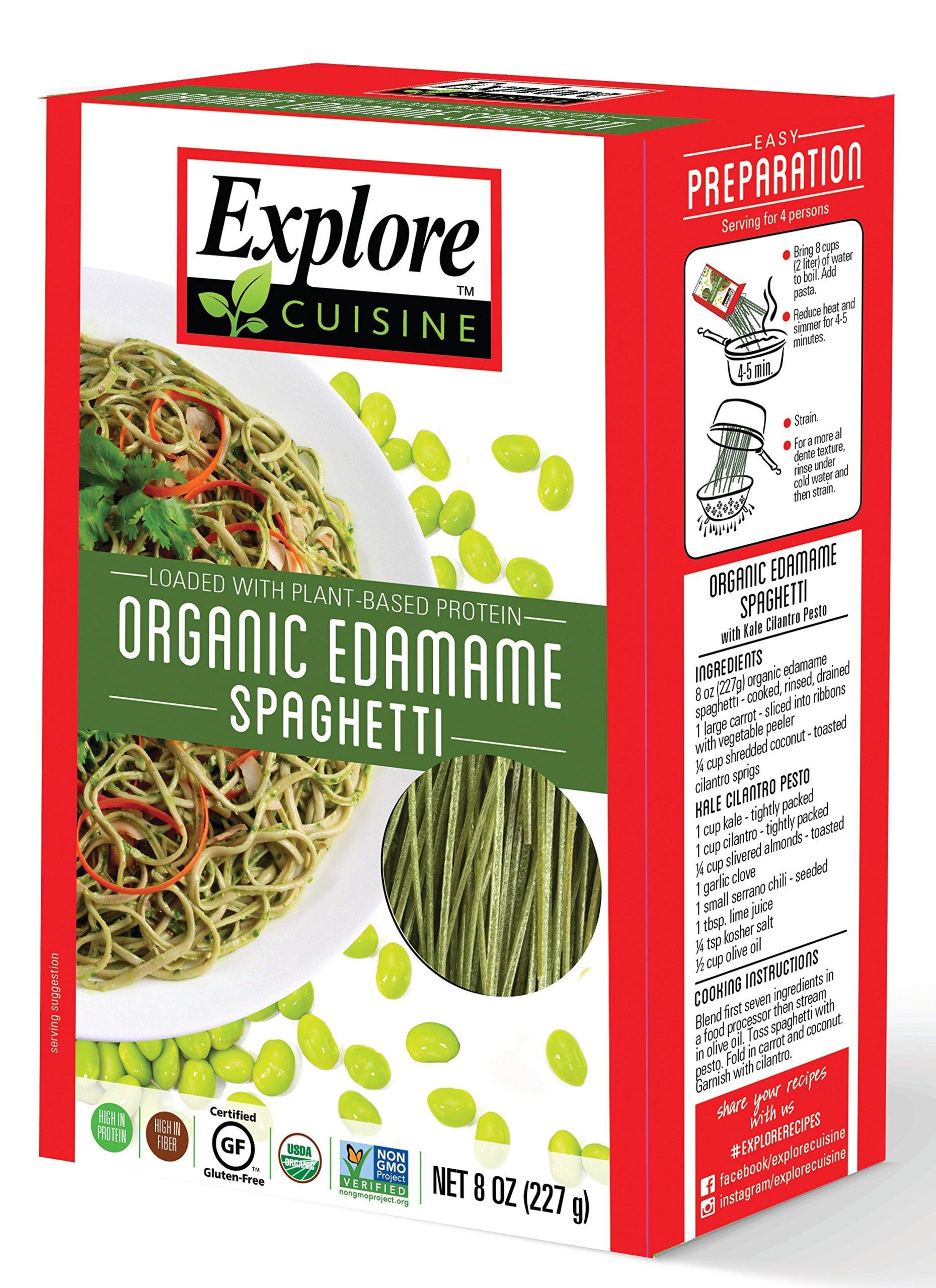 Explore Asian - Organic Edamame Spaghetti, 8 oz - 4 Pack | High Protein, High Fiber Pasta