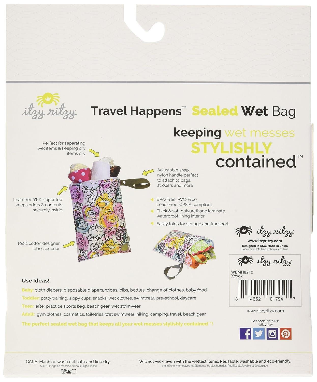 Posy Pop Itzy Ritzy IR-WBL2008 Travel Happens Large Sealed Wet Bag