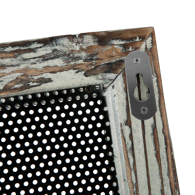 Amazon.com: Perchero de pared de madera rústica y malla de ...