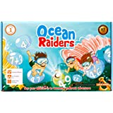 OCEAN RAIDERS math game – STEM toy to learn addition and number sequencing – Gift for boys and girls age 4 and up – Just know upward counting to start