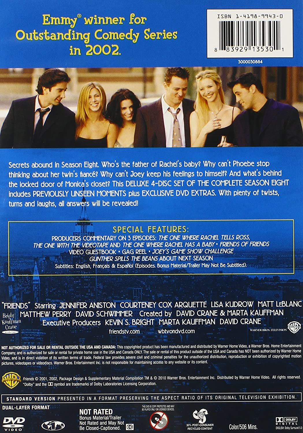 Amazon com: Friends: The Complete Seventh and Eighth Seasons
