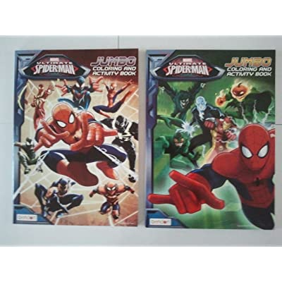 Marvel Spiderman Jumbo Coloring Book Set of 2: Toys & Games