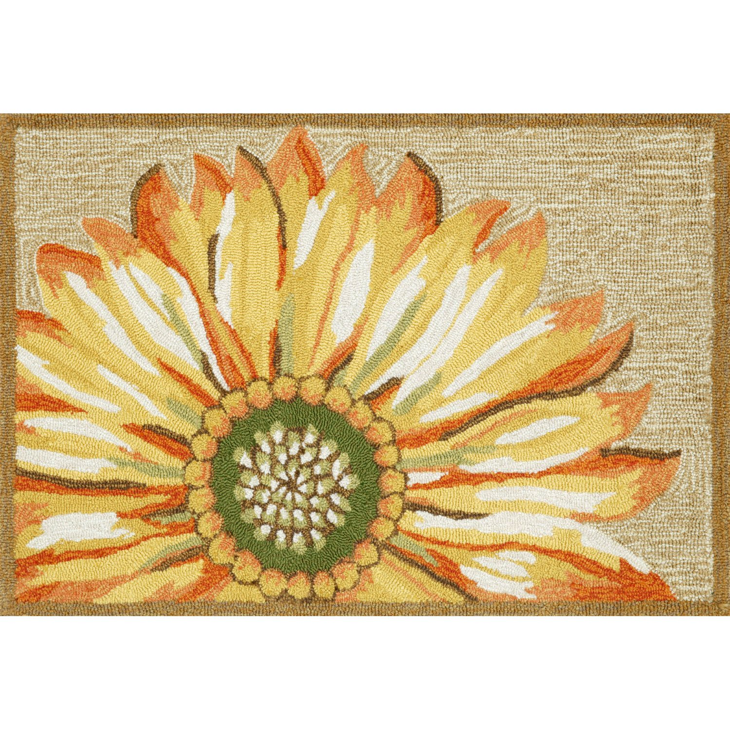 Liora Manne FT123A50209 Whimsy Flowers Rug, Indoor/Outdoor, 24'' x 36'', Yellow