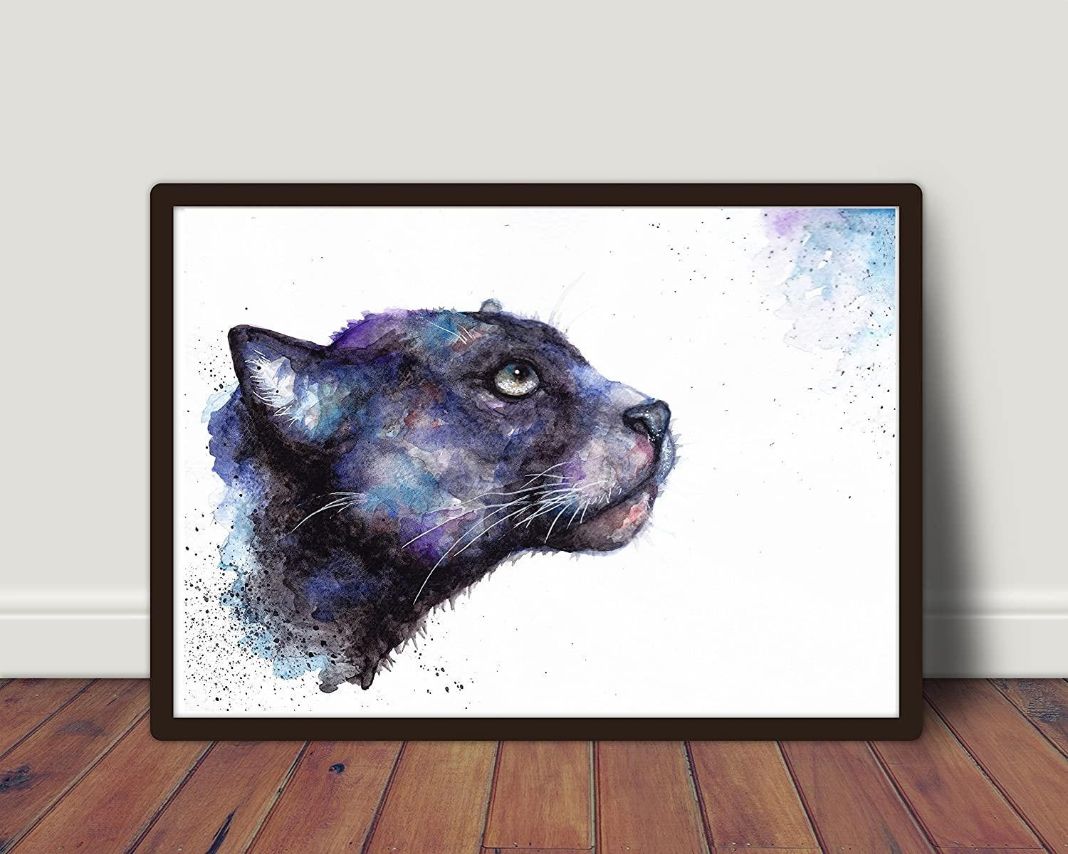 d02c24c8b9058 Black Panther, Wild,Cat,Fine Art Print, Sale,Original,Watercolour ...