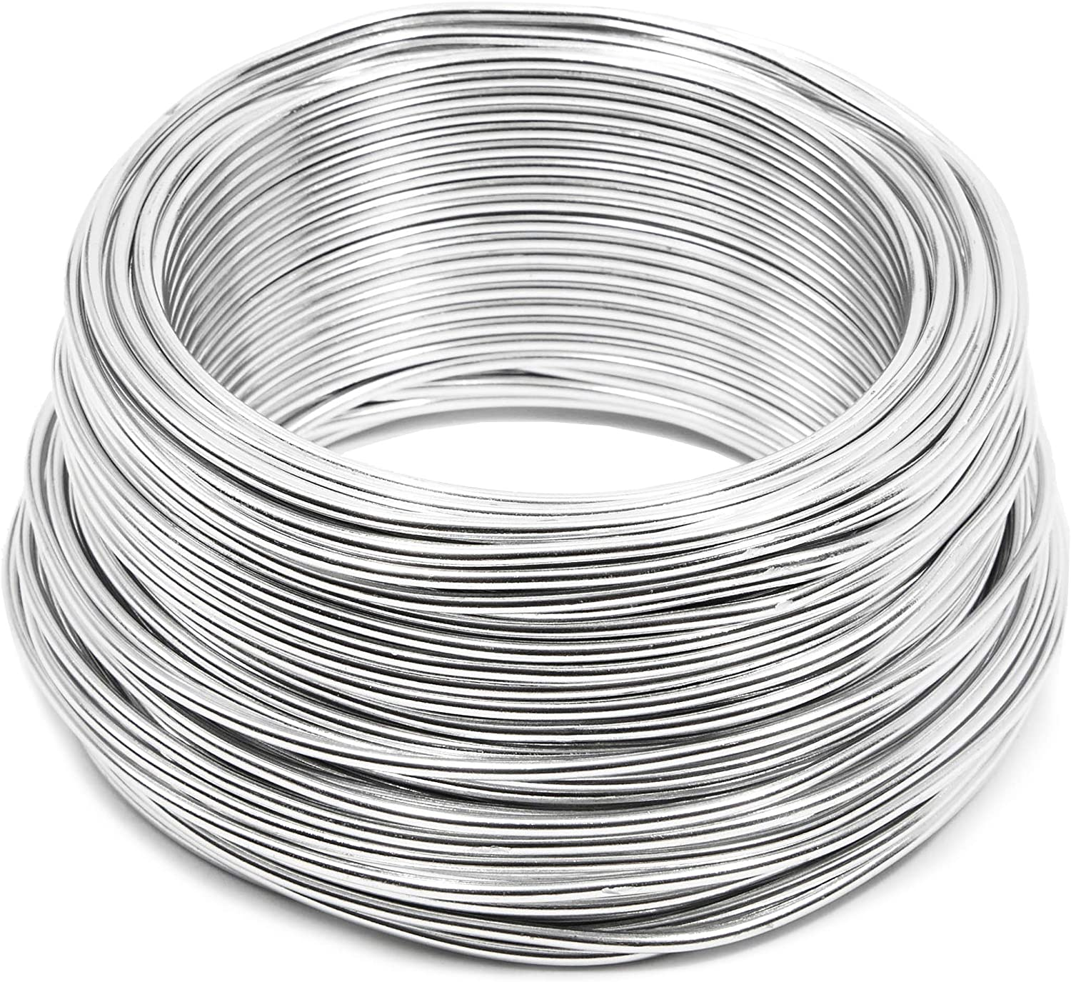 Bright Creations Aluminum Wire for DIY Crafts Silver 12 Gauge 101 Feet