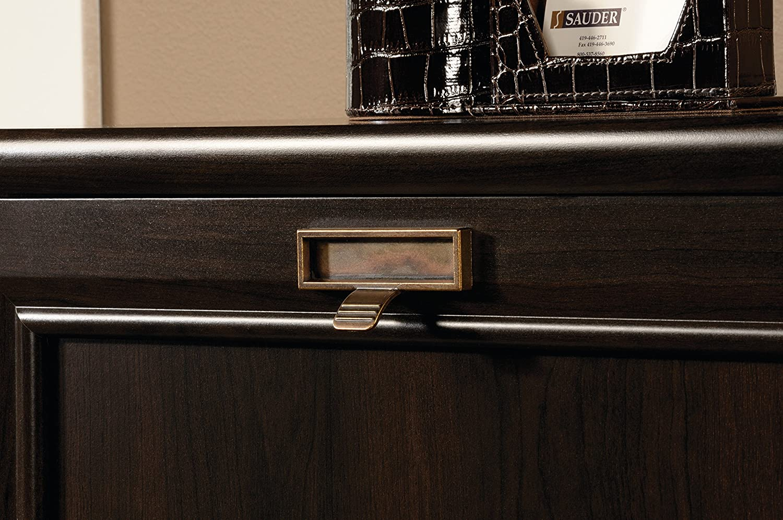19.53 x H 18.98 x W Cinnamon Cherry finish L Sauder 415978 File Cabinet 54.02