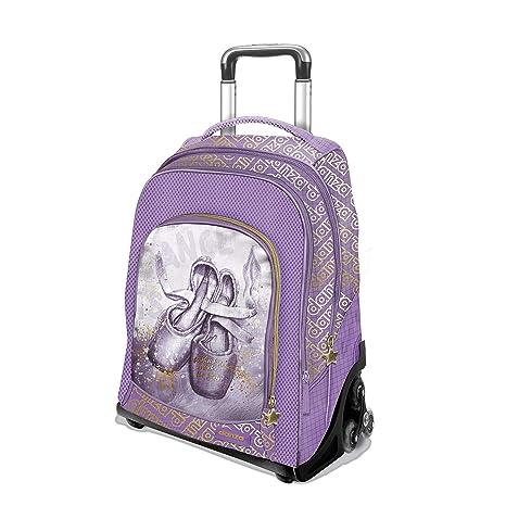 negozio online 0af19 33590 Zaino Trolley Tre Ruote Dimensione Danza Misure 34x44x23 (Glicine-Oro)
