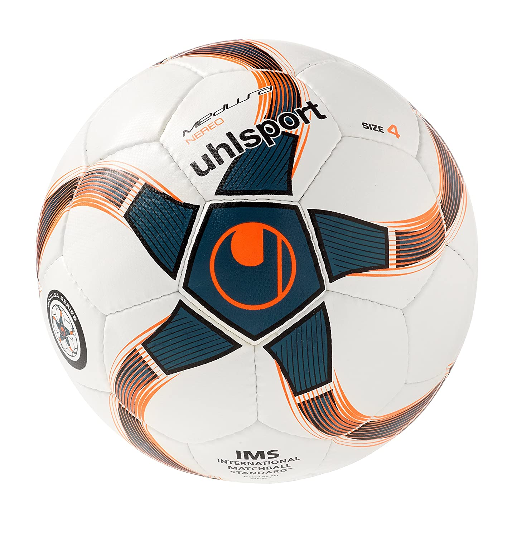 uhlsport Medusa Nereo Ballon de Foot Blanc/Pétrole/Noir Taille 4 100161501