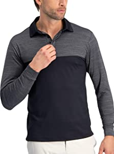 Three Sixty Six Three Sixty Six Long Sleeve Polo Shirts for Men