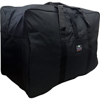 "28""/32""/36"" Black Polyester Square Jumbo Duffel Bag Travel Suitcase"