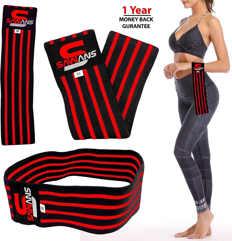 bot/ín para ejercicio SAWANS/® Bandas de resistencia C/írculo de la cadera activaci/ón de gl/úteos fuerte el/ástico entrenamiento y fitness rotaci/ón de gl/úteos