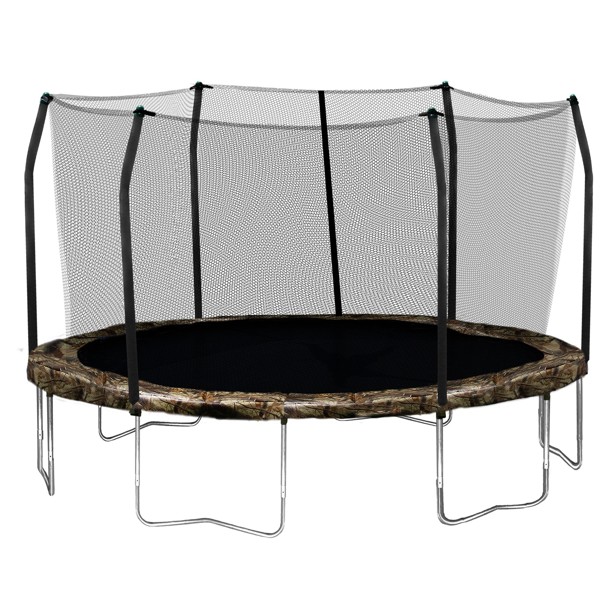 Skywalker Trampolines Round Trampoline and Enclosure with Camo Spring Pad, 15 Feet by Skywalker Trampolines