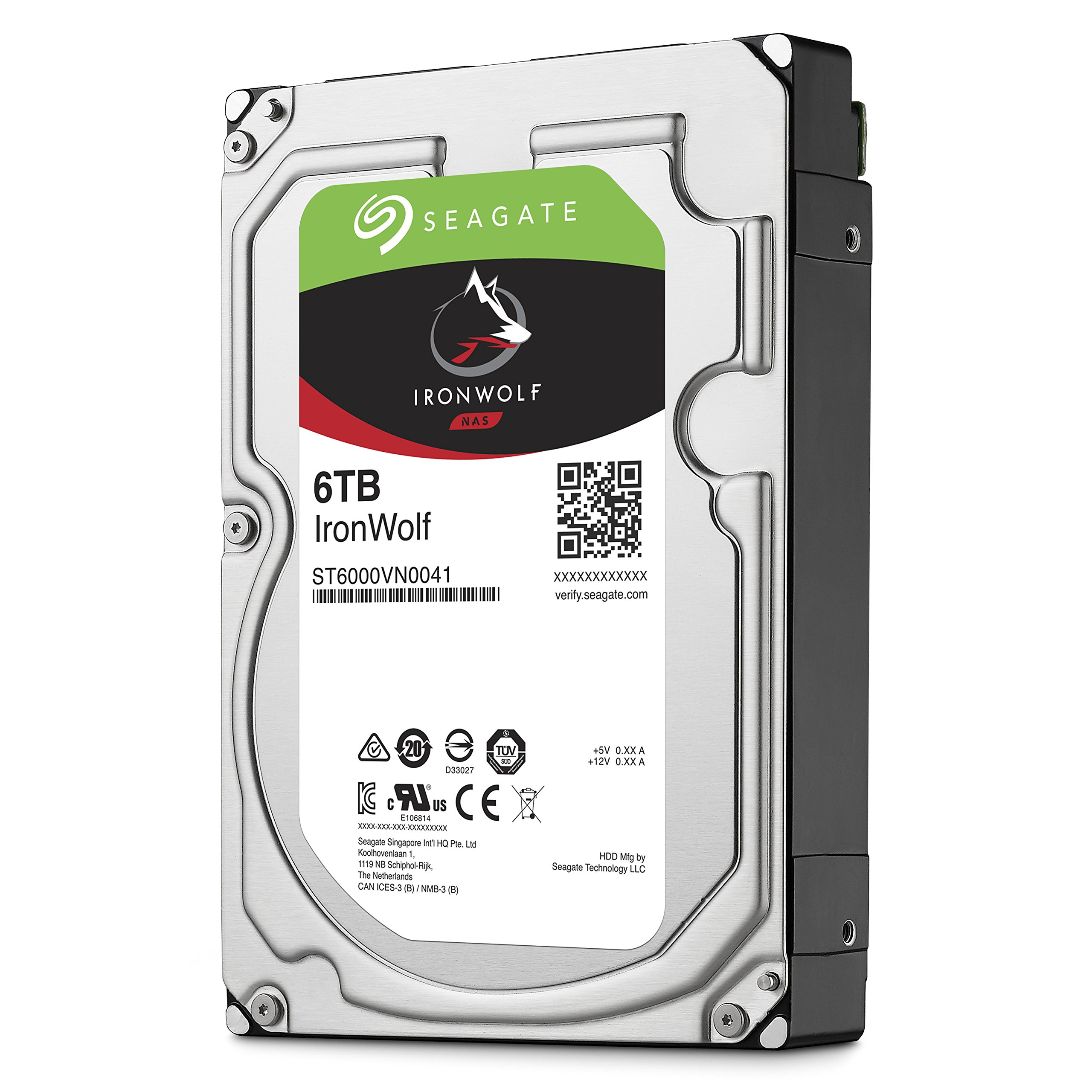 Seagate 6TB IronWolf NAS SATA 6Gb/s NCQ 128MB Cache 3.5-Inch Internal Hard Drive (ST6000VN0041) by Seagate (Image #4)