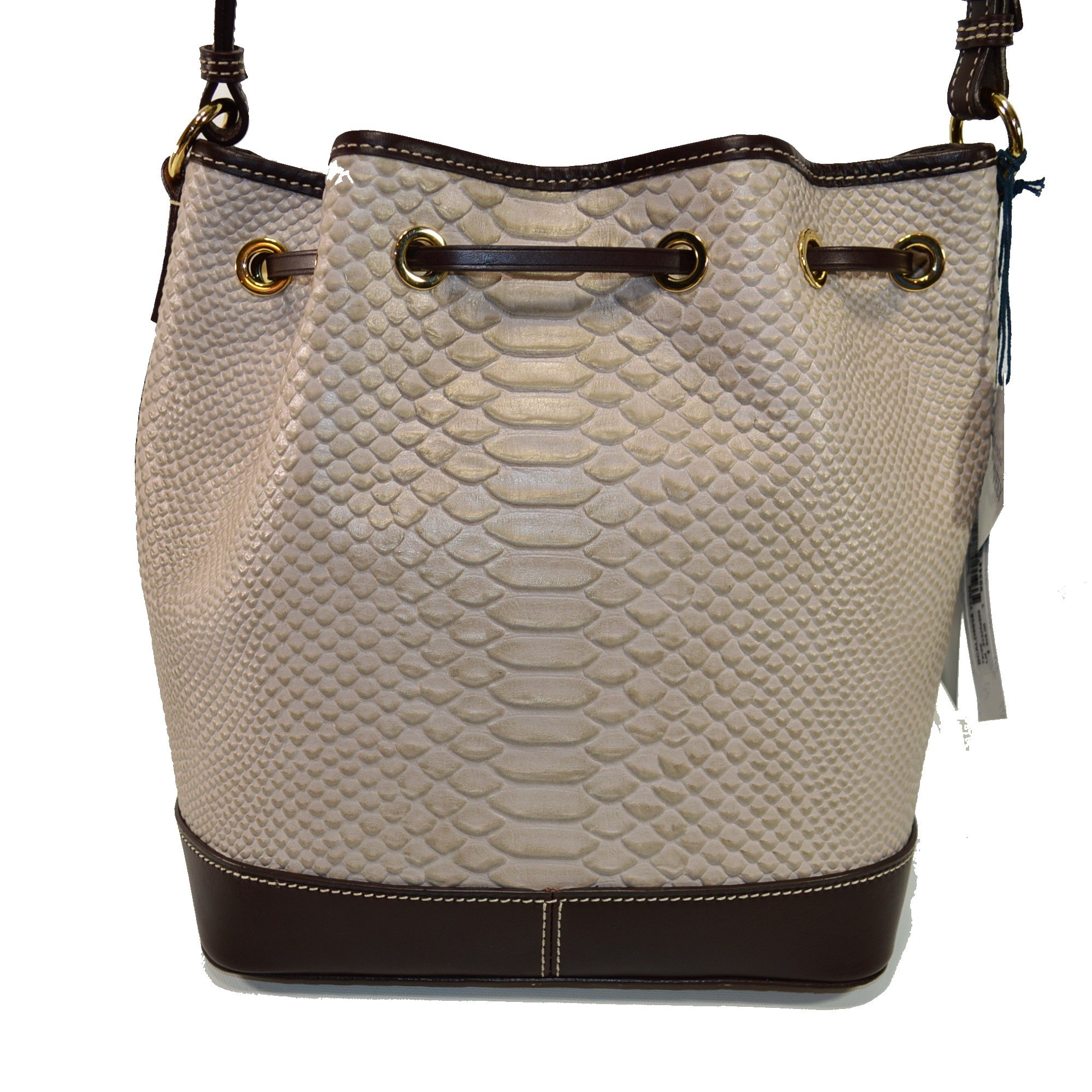 Dooney & Bourke Cordova Leather Drawstring Bag BCALD9038 Taupe by Dooney & Bourke (Image #3)