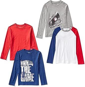Spotted Zebra 4-Pack Long-Sleeve T-Shirts Niños, Pack de 4