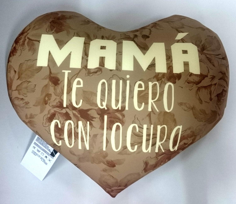 LInformal Cojin corazón mamá te Quiero con Locura: Amazon ...