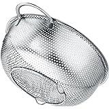 BasicForm Scolapasta microforato con manico e base in acciaio inox 22,5 cm