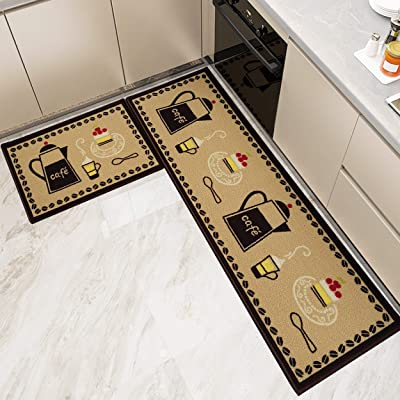Buy Kitchen Rugs And Mats Non Skid Washable Set 2 Pcs Water Absorb Microfiber Standing Kitchen Area Decor Mats And Rugs Rubber Backing Soft Carpet Doormat Runner For Home Floor Cafe Online