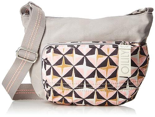 Charm Geometrical Shoulderbag Shz, Womens Shoulder Bag, Pink (Rose), 12x18x24 cm (B x H T) Oilily