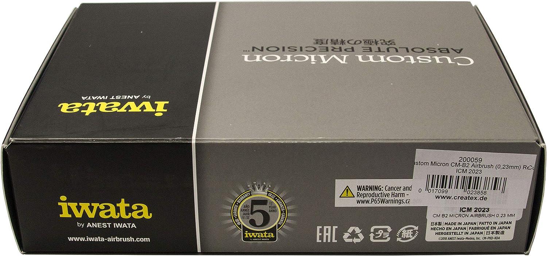 Airbrush Iwata Custom Micron cm-b2/0.23/icm2023/Red Metal Box