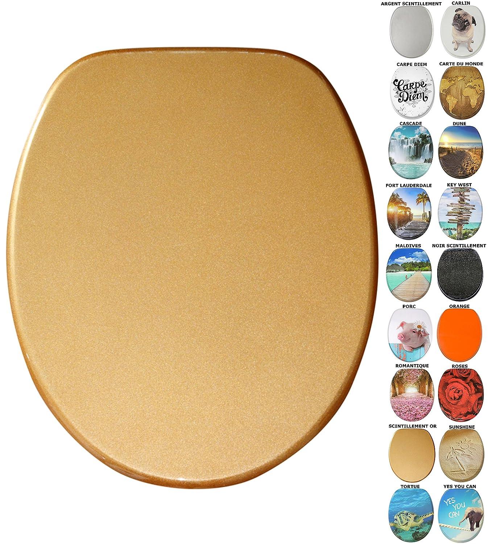 Abattant WC frein de chute soft close - Grande sélection - Finition de haute qualité - Fixation facile (Key West) SANILO