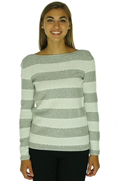 e2ff7fd6 Image Unavailable. Image not available for. Color: Tommy Hilfiger Womens  Heathered Lace Trim Pullover Sweater Gray L